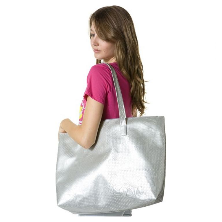 Volcom stone check beach bag