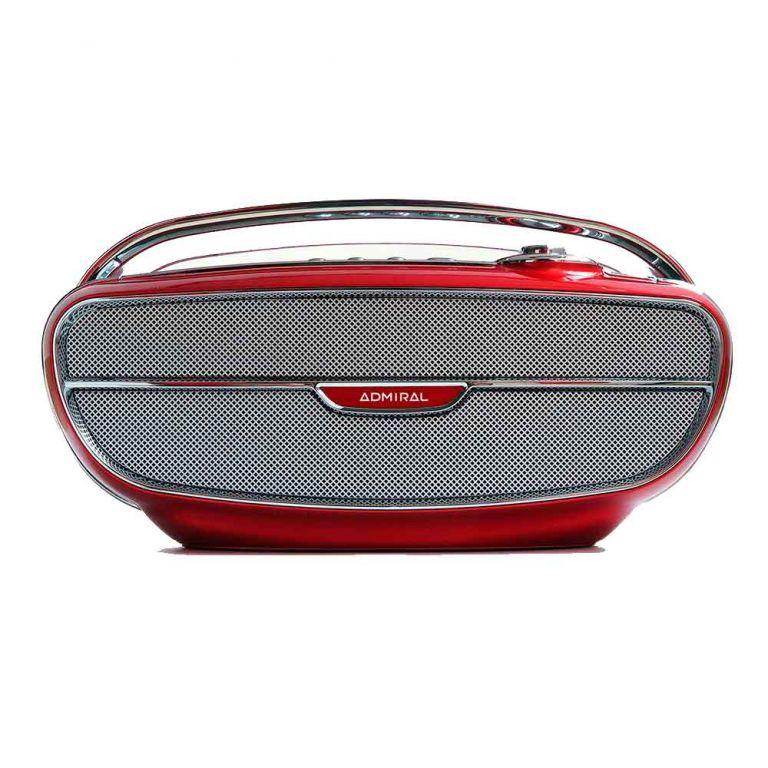 Admiral Retro 20 Watt Red Portable Bluetooth Speaker