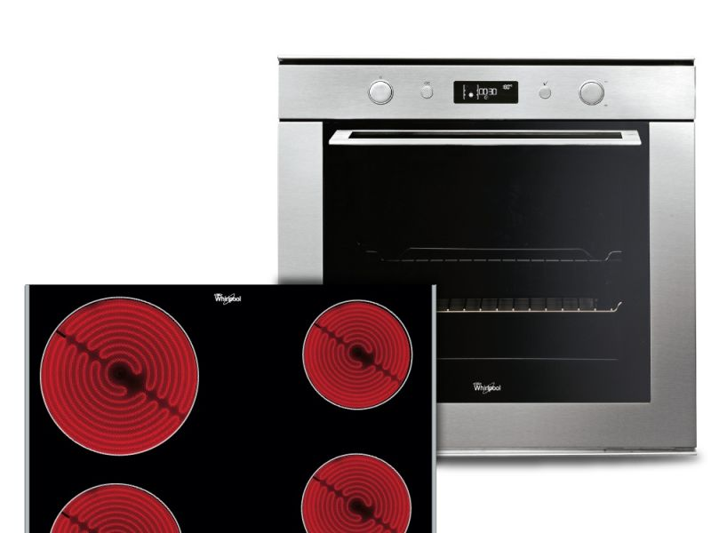 Combo Whirlpool eléctrico Horno y Anafe
